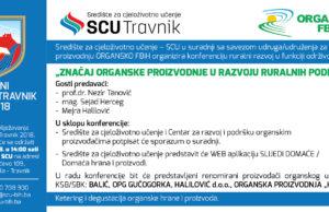 SCU EVENT - Dani općine Travnik - Organsko FBiH - pozivnica