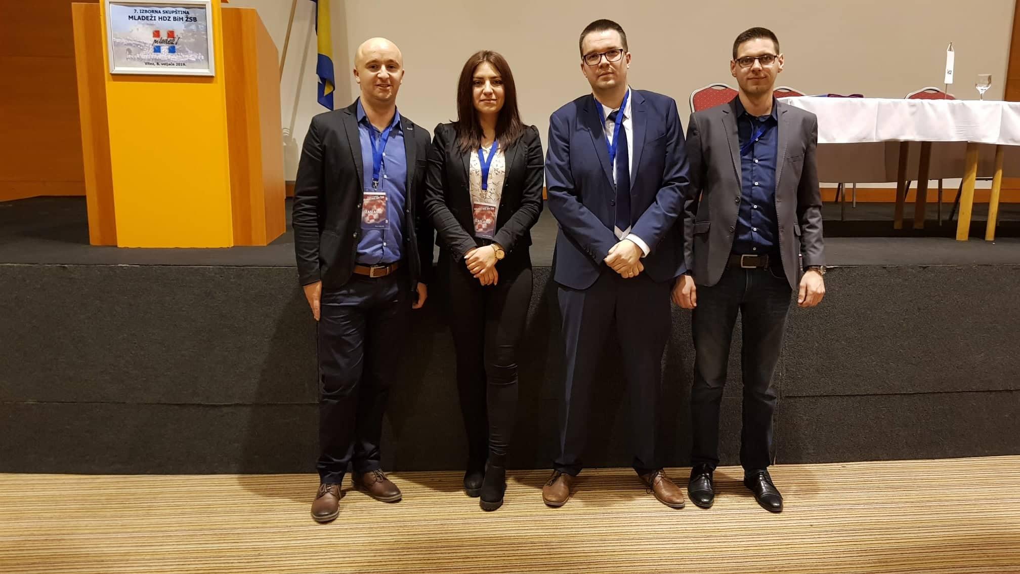 Članovi ŽO iz Travnika: Mario Debeljak, Matea Cakalin, Goran Pejaković i Ilija Peša